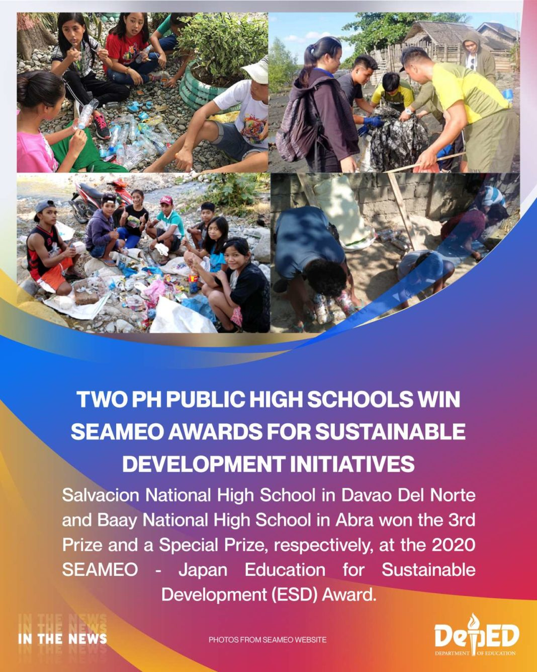 Two PH public high schools win SEAMEO awards for sustainable development initiatives